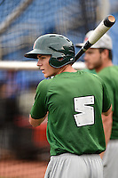 Fort Wayne TinCaps shortstop Trea Turner (5) during practice before a game against the Lake County Captains on August 21, 2014 at Classic Park in Eastlake, Ohio.  Lake County defeated Fort Wayne 7-8.  (Mike Janes/Four Seam Images)