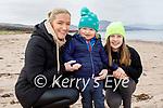 Enjoying a stroll on Derrymore Strand on Saturday, l to r: Majella, Luke and Zara Leahy.