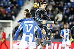 CD Leganes' Ruben Perez (l) and Celta de Vigo's Josep Sene during La Liga match. January 28,2017. (ALTERPHOTOS/Acero)