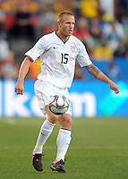 Jay DeMerit of USA. Brazil defeated USA 3-0 during the FIFA Confederations Cup at Loftus Versfeld Stadium in Tshwane/Pretoria, South Africa on June 18, 2009.