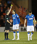 Bilel Mohsni and Nicky Clark try to attack for Rangers