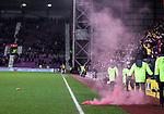 29.02.2020 Hearts v Rangers: Hearts fans throw pyro