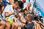 Andriy Lunin during his Official Presentation at Ciudad Deportiva Butarque in Leganes, Spain. August 30, 2018. (ALTERPHOTOS/A. Perez Meca)