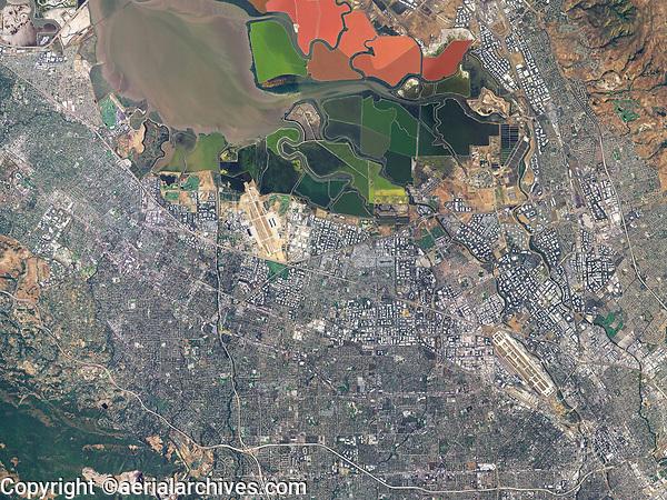 aerial photo map  of Silicon Valley, Santa Clara County, California