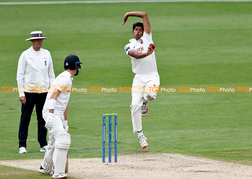 Jas Singh bowls for Kent during Kent CCC vs Sussex CCC, LV Insurance County Championship Group 3 Cricket at The Spitfire Ground on 11th July 2021