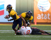 Isi Sofele of California runs the ball during the game against Oregon State at AT&T Park in San Francisco, California on November 12th, 2011.   California defeated Oregon State, 23-6.