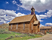 Presbyterian Church in ghost town of Bodie, California