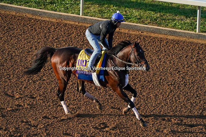 November 5, 2020: Tom's D'Etat, trained by trainer Albert M. Stall Jr., exercises in preparation for the Breeders' Cup Classic at Keeneland Racetrack in Lexington, Kentucky on November 5, 2020. John Voorhees/Eclipse Sportswire/Breeders Cup/CSM