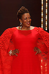 CCH Pounder walks runway in a red dress by Bethany Meuleners, for the Red Dress Collection 2017 fashion show, for The American Heart Association, presented by Macy's at the Hammerstein Ballroom in New York City on February 9, 2017; during New York Fashion Week Fall 2017.