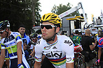 World Champion Mark Cavendish (GBR) Sky Procycling at the end of Stage 1 of the 99th edition of the Tour de France, running 198km from Liege to Seraing, Belgium. 1st July 2012.<br /> (Photo by Eoin Clarke/NEWSFILE)