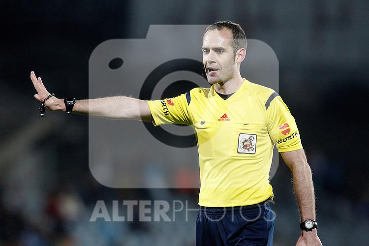 Spanish referee Melero Lopez during La Liga match.March 16,2015. (ALTERPHOTOS/Acero)
