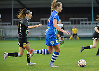 Anke Vanhooren (7 of Aalst) and Lobke Loonen (19 of Gent)  pictured during a female soccer game between Eendracht Aalst and AA Gent Ladies on the 10 th matchday of the 2020 - 2021 season of Belgian Scooore Womens Super League , Saturday 19 th of December 2020  in Aalst , Belgium . PHOTO SPORTPIX.BE | SPP | DIRK VUYLSTEKE