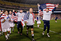 Steve Cherundolo, Conor Casey, Brad Guzan, Tim Howard, Michael Bradley, Jimmy Conrad. The USMNT tied Costa Rica, 2-2, during the FIFA World Cup Qualifier at  RFK Stadium, in Washington, DC.   With the result, the USMNT qualified for the 2010 FIFA World Cup Finals in South Africa.