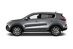 Car Driver side profile view of a 2018 KIA Sportage EX 5 Door SUV Side View