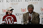 May 2, 2014: Rosie Napravnik and Trainer Steve Asmussen win the Kentucky Oaks with Untapable at Churchill Downs in Louisville, KY. Eric Patterson/ESW/CSM