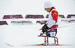 Sochi, RUSSIA - Mar 12 2014 -  Yves Bourque competes in the Men's 1km Sprint Qualification at the 2014 Paralympic Winter Games in Sochi, Russia.  (Photo: Matthew Murnaghan/Canadian Paralympic Committee)