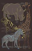 Lamont, GIFT WRAPS, GESCHENKPAPIER, PAPEL DE REGALO, paintings+++++,USGTPC1115,#gp#, EVERYDAY ,notebook,notebooks,zebra,rhino
