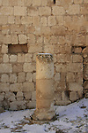 Judea, Herodion, built by Herod the Great as a fortified palace, a column at the Southern Portico