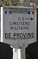 Europe/France/Ile-de-France/77/Seine-et-Marne/Provins: Panneau Michelin signalant le cimetière militaire