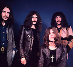 Black Sabbath 1970  Bill Ward, Geezer Butler, Ozzy Osbourne, Tony Iommi..© Chris Walter....