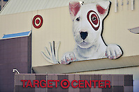 29 September 2012: The Target Dog appears in right field. Photo taken at Target Field in Minneapolis, MN. The visiting Detroit Tigers defeated the Minnesota Twins 6-4 in the second game of their 3-game series. Mandatory Credit: Ed Wolfstein Photo
