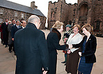 Fiona Hyslop, Cabient Secretary for Culture and External Affairs greets Her Highness Princess Lalla Goumala Alaoui (Embassy of the Kingdom of  Moroccco) on her arrival at Edinburgh Castle for a reception and dinner hosted by Alex Salmond First Minister of Scotland..Pic Kenny Smith, Kenny Smith Photography.6 Bluebell Grove, Kelty, Fife, KY4 0GX .Tel 07809 450119,