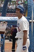 Los Angeles Dodgers Mike Marshall (5) during spring training circa 1989 at Holman Stadium in Vero Beach, Florida.  (MJA/Four Seam Images)