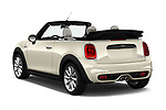 Car pictures of rear three quarter view of a 2019 Mini Cooper Cooper S Chili 2 Door Convertible angular rear