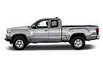 Car driver side profile view of a 2018 Toyota Tacoma SR5 Access Cab 4 Door Pick Up