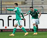 17.10.2020, Schwarzwald Stadion, Freiburg, GER, 1.FBL, SC Freiburg vs SV Werder Bremen<br /><br />im Bild / picture shows<br />Milot Rashica (Bremen), Kevin Möhwald (Bremen)<br /><br />Foto © nordphoto / Bratic<br /><br />DFL REGULATIONS PROHIBIT ANY USE OF PHOTOGRAPHS AS IMAGE SEQUENCES AND/OR QUASI-VIDEO.