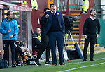 Motherwell v St Johnstone….30.03.19   Fir Park   SPFL<br />Tommy Wright shots at his players<br />Picture by Graeme Hart. <br />Copyright Perthshire Picture Agency<br />Tel: 01738 623350  Mobile: 07990 594431