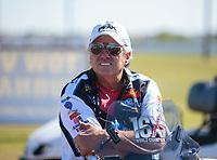 Apr 14, 2019; Baytown, TX, USA; NHRA funny car driver John Force during the Springnationals at Houston Raceway Park. Mandatory Credit: Mark J. Rebilas-USA TODAY Sports