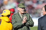 Hollywood actor R. Lee Ermey in action during the Armed Forces Bowl game between the Middle Tennessee Blue Raiders and the Navy Midshipmen at the Amon G. Carter Stadium in Fort Worth, Texas. Navy defeated Middle Tennessee 24 to 6.