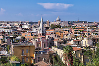 City view of central Rome, Italy.