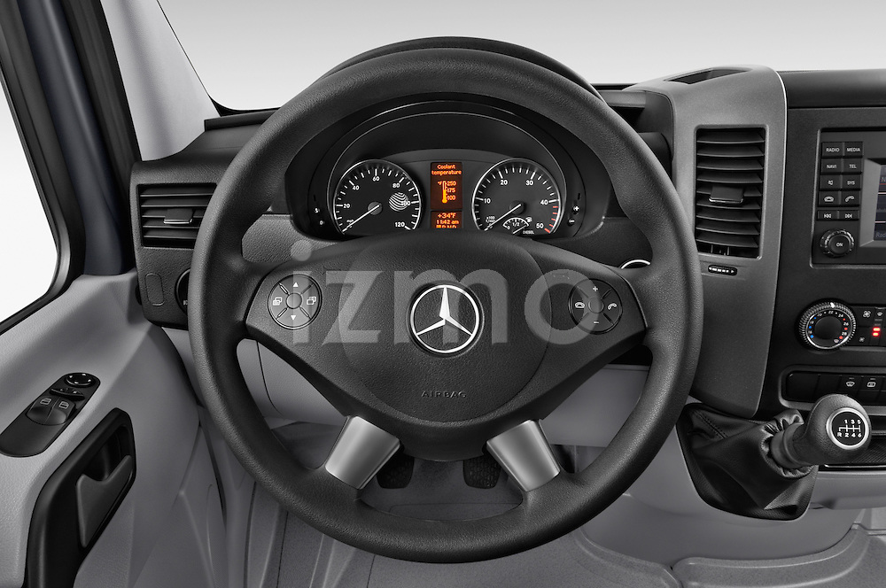 Car pictures of steering wheel view of a 2016 Mercedes Benz Sprinter-Cargo-Van 2500-144-WB-High-Roof 4 Door Cargo Van Steering Wheel