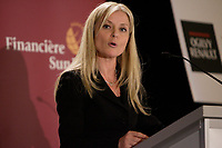 Montreal,(Qc) CANADA - Mar 21 2011 - Isabelle Hudon , Sun Life speak at the Canadian Club of Montreal