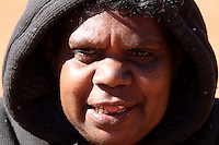 Pitjantjatjara woman in the Red Centre, Australia