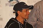June 4, 2014: Victor Espinoza, connections of California Chrome at Belmont. Sue Kawczynski/ESW/CSM