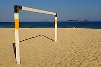 Goal posts on Leblon beach in Rio de Janeiro