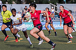 Jasmine Fung of Hong Kong runs in a try during the Asia Rugby U20 Sevens 2017 at King's Park Sports Ground on August 4, 2017 in Hong Kong, China. Photo by Yu Chun Christopher Wong / Power Sport Images