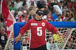 Bruno Hache, Toronto 2015 - Goalball.<br /> Canada's men's Goalball team plays in the bronze medal game // L'équipe masculin de goalball du Canada participe au match pour la médaille de bronze. 15/08/2015.