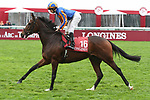 October 07, 2018, Longchamp, FRANCE - Magic Wand with Ryan-Lee Moore up at parade canter for the Prix de l'Opera Longines (Gr. I) at ParisLongchamp Race Course  [Copyright (c) Sandra Scherning/Eclipse Sportswire)]