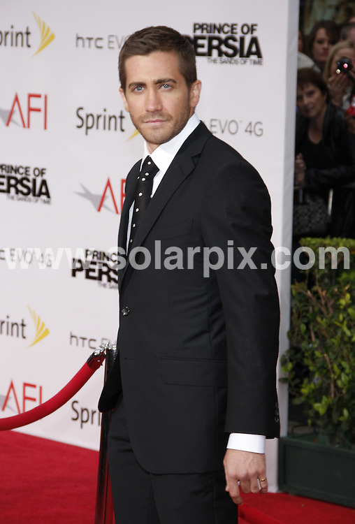 **ALL ROUND PICTURES FROM SOLARPIX.COM**.**SYNDICATION RIGHTS FOR UK, AUSTRALIA, DENMARK, PORTUGAL, S. AFRICA, SPAIN & DUBAI (U.A.E) & ASIA (EXCLUDING JAPAN) ONLY**.Prince Of Persia: The Sands Of Time Los Angeles Premiere - Arrivals, Grauman's Chinese Theater / Hollywood, CA, USA.This pic: Jake Gyllenhaal.JOB REF: 11269    PHZ gabber   DATE: 17_05_2010 .**MUST CREDIT SOLARPIX.COM OR DOUBLE FEE WILL BE CHARGED**.**MUST NOTIFY SOLARPIX OF ONLINE USAGE**.**CALL US ON: +34 952 811 768 or LOW RATE FROM UK 0844 617 7637**