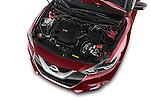 Car Stock 2018 Nissan Maxima Platinum 4 Door Sedan Engine  high angle detail view