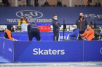 SPEEDSKATING: HEERENVEEN: 11-02-2021, IJsstadion Thialf, ISU World Speed Skating Championships 2021,  Patrick Roest, Sven Kramer, ©photo Martin de Jong