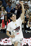 Real Madrid's Jaycee Carroll celebrates the victory in the Euroleague Final Match. May 15,2015. (ALTERPHOTOS/Acero)