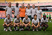 Athletica lines up before the game at RFK Stadium in Washington, DC.  The Washington Freedom defeated Saint Louis Athletica, 3-1.
