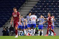 30th April 2021; Dragao Stadium, Porto, Portugal; Portuguese Championship 2020/2021, FC Porto versus Famalicao; Toni Martinez of FC Porto celebrates his goal in the 8th minute 1-0