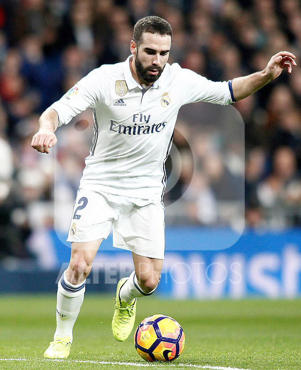 Real Madrid's Daniel Carvajal during La Liga match. March 1,2017. (ALTERPHOTOS/Acero)