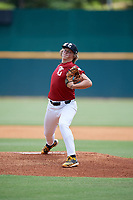 Luke Hayden (19) of Edgewood High School in Bloomington, IN during the Perfect Game National Showcase at Hoover Metropolitan Stadium on June 17, 2020 in Hoover, Alabama. (Mike Janes/Four Seam Images)